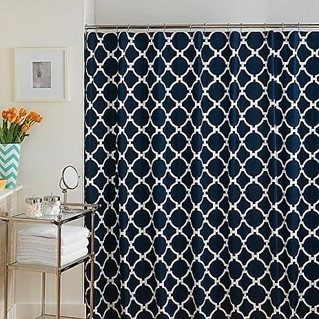 72 Inch X 96 Inch Hampton Links Shower Curtain In Navy/White
