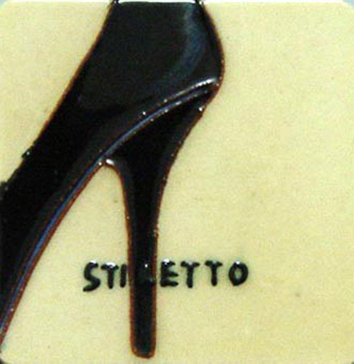 Set de 4 imanes de nevera con tacón - Zapatos de cerámica pintado ...