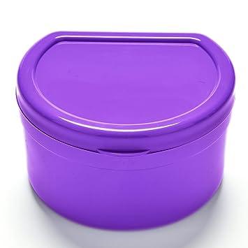 Daytingday(TM) Purple Dentures Retainer Box Plastic False Teeth Storage Case
