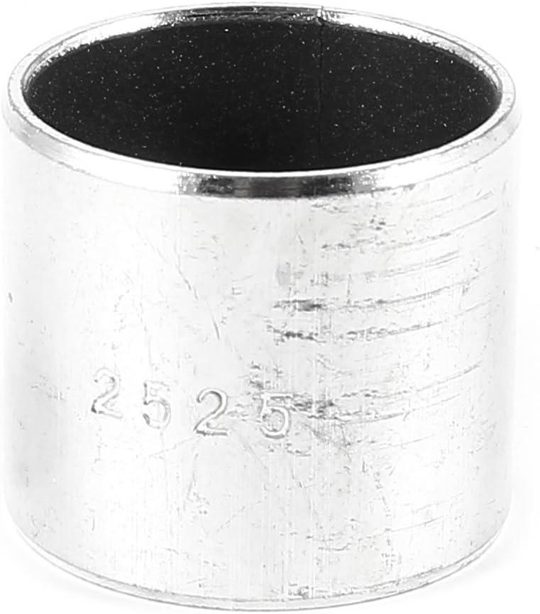uxcell 4Pcs 6mm Length x 12mm OD x 10mm Bore Silver Tone Plain Sleeve Bearing