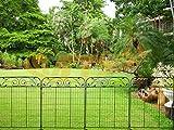 MTB Black Coated Steel Decorative Garden Fence