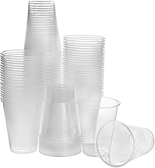 Tashibox 12 Oz Clear Plastic Cups Disposable Cold Drink Party Cups 200 Health Personal Care