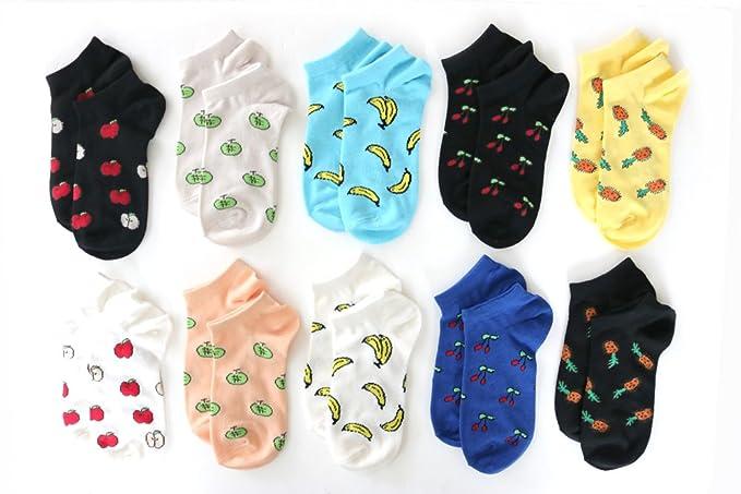 Amazon.co.jp: 靴下 レディース くるぶし丈 バナナやチェリー