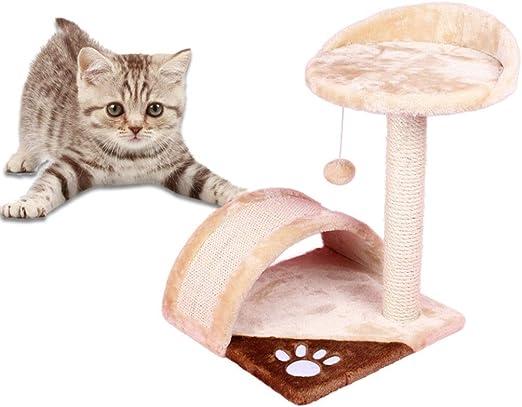 MRZ Árbol Rascador para Gatos, Rascador De Suelo A Techo, Poste Escalador De Sisal Natural, Árbol Extensible, Arbol Rascador De Actividades con Poste, Beige. (Color : Beige): Amazon.es: Productos para mascotas
