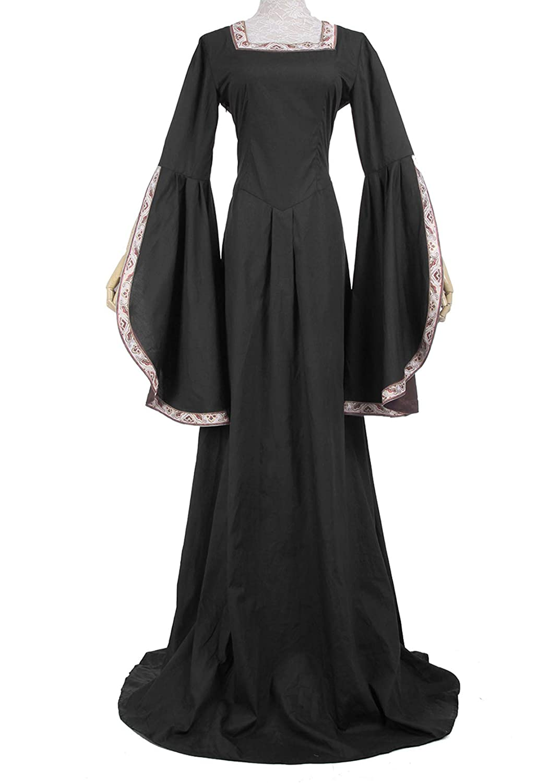 Amazon.com: Nuoqi Womens Renaissance Costumes Plus Size ...