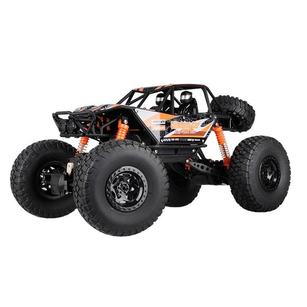 XUERUI スーパースポーツユーティリティ車RC車オフロード四輪駆動2.4Ghz 4WD高速1:10ラジオリモートコントロールバギー強力な馬力多地面フリークライミング (色 : オレンジ) B07F2HH23Nオレンジ