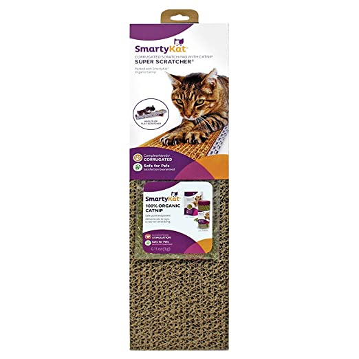 SmartyKat Super Scratcher Cat Scratcher Corrugated Catnip Scratcher