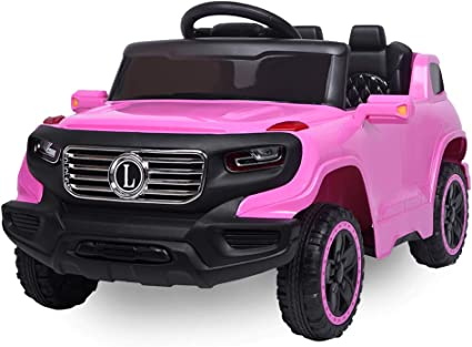Amazon Com Value Box Electric Remote Control Truck Kids Toddler Ride On Cars 6v Battery Motorized Vehicles Children S Best Toy Car Safe With 3 Speeds Music Seat Belts Led Lights And Realistic Horns