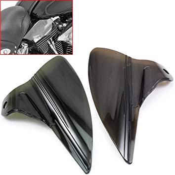 Smoke Motorcycle Saddle Shield Heat Deflector For Harley Touring Road Road Electra Street Glide Ultra Classic FLHTCUTG /&Trike 2009-2017