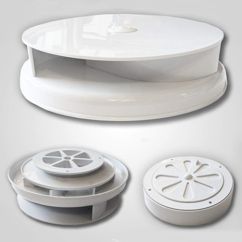 AVT - Ventilador para techo de furgoneta, color blanco