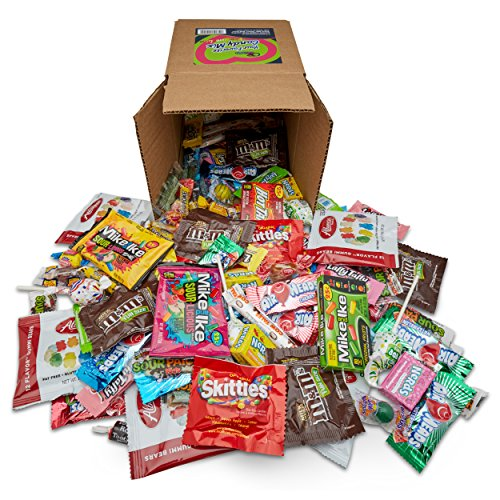 Candy Mix - Your Favorite Mix of Premium Candy! Gold Bears, Skittles, M&M's, Blow Pop's, Tootsie Rolls, Mike & Ike's, More.(Packed in a 6 inch cube box)