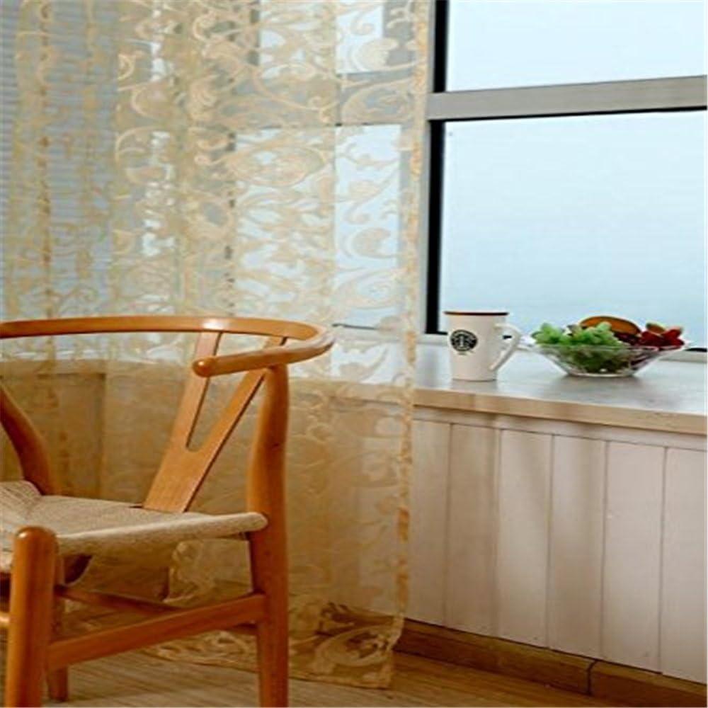 Coffee dimensioni 200 x 100 cm tenda per finestra in poliestere per salotto e bagno 78,7 x 39,4 pollici Poliestere motivo floreale h x l medium pu ran