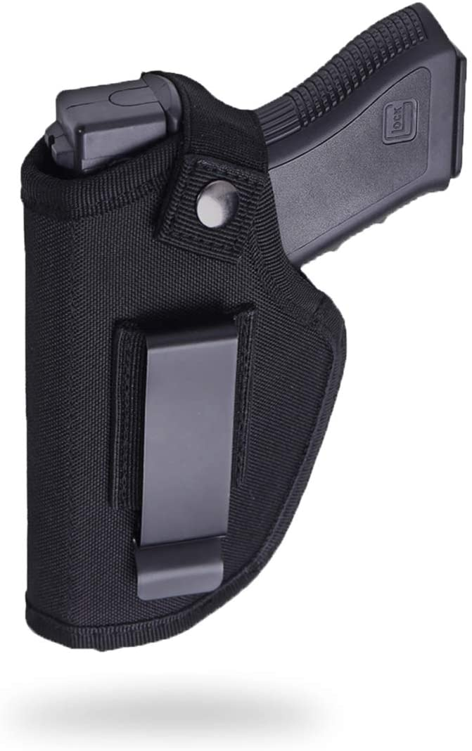 Fonrroni Concealed Carry Holster, Universal Holster, Inside The Waistband Bundle, Holster for Female/Male Fits S&W, M&P Shield/Glock 23,36,39,42,43/Ruger LC 9, Similar Handguns, Black