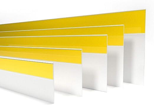 Fensterleiste Flachprofil PVC selbstklebend 60mm breit 3m lang Abdeckleiste
