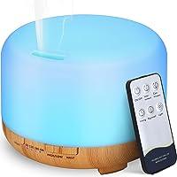 Hianjoo Aroma Diffuser, 450 ml, Luchtbevochtiger met Timer, Ultrasone Aromatherapie Diffuser, Led met 7 Kleuren, voor…