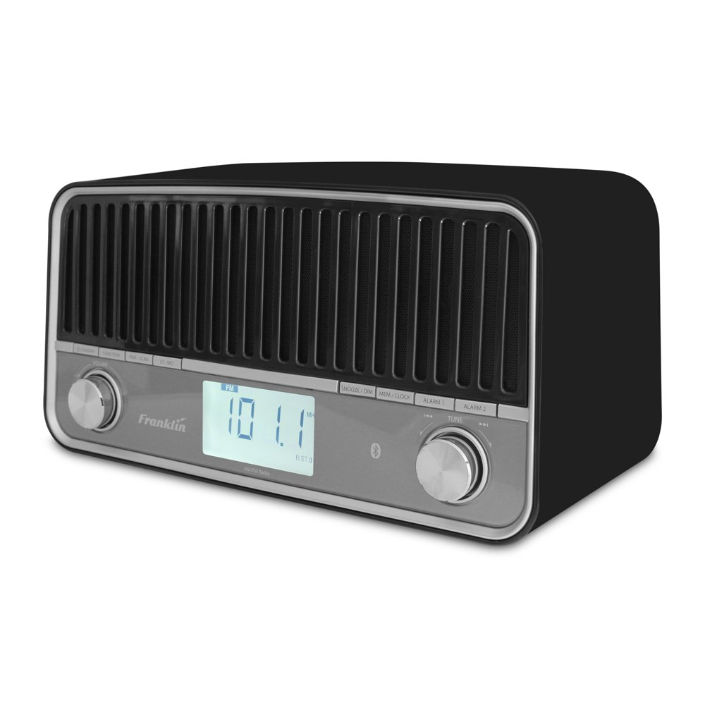 Franklin FR-1 AM/FM Table Radio with Stereo Speakers and Bluetooth Britta Products FR-1 Black-V2