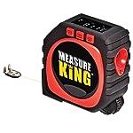 4.General Tools 3-in-1 Laser Tape Measure, LCD Digital Display, String Mode, 25 ft Sonic Mode & Roller Mode, 10 ft Tape Measure
