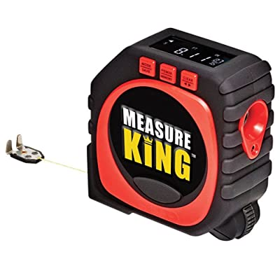 4.General Tools 3-in-1 Laser Tape Measure, LCD Digital Display, String Mode, 25 ft Sonic Mode & Roller Mode, 10 ft Tape Measure