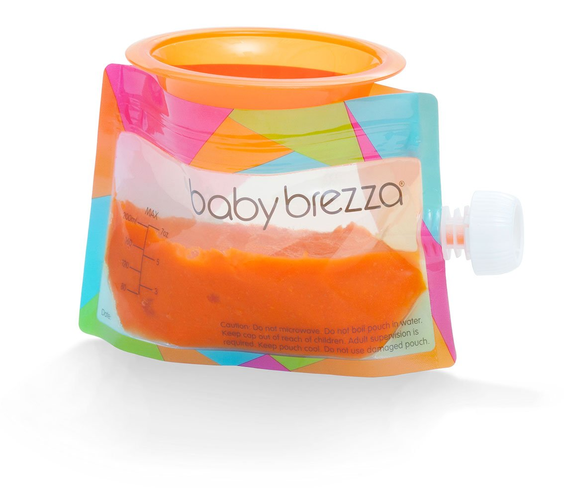 Baby Brezza Reusable Baby Food Storage Pouch - Make Organic Food Puree for Your Toddler and Store in Refillable Squeeze Pouches - Bulk Set of 10 Zipper ...  sc 1 st  TIBS & Baby Brezza Reusable Baby Food Storage Pouch - Make Organic Food ...