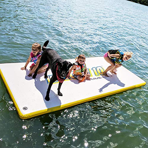 RAVE Sports Whoosh 10' Water Mat Inflatable Activity Platform (White) by RAVE Sports