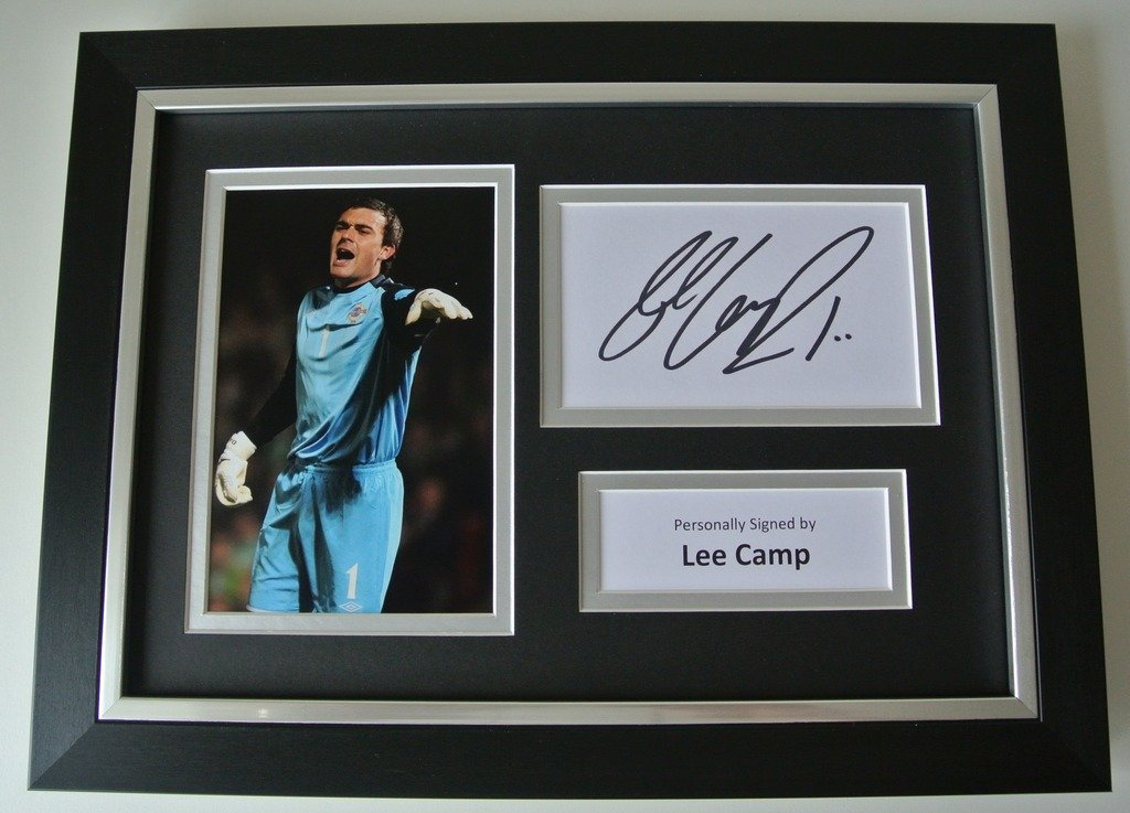 Sportagraphs Lee Camp SIGNED A4 FRAMED Photo Autograph Display Northern Ireland Football COA PERFECT GIFT
