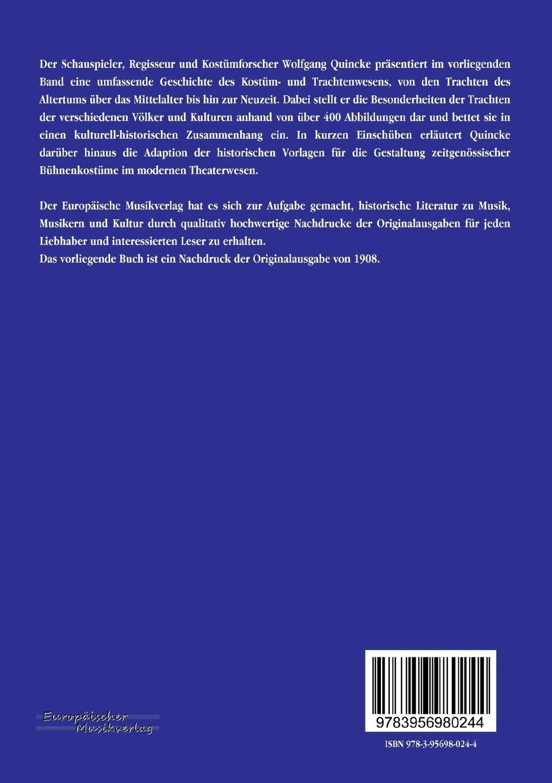 Handbuch der Kostuemkunde (German Edition): Wolfgang Quincke ...