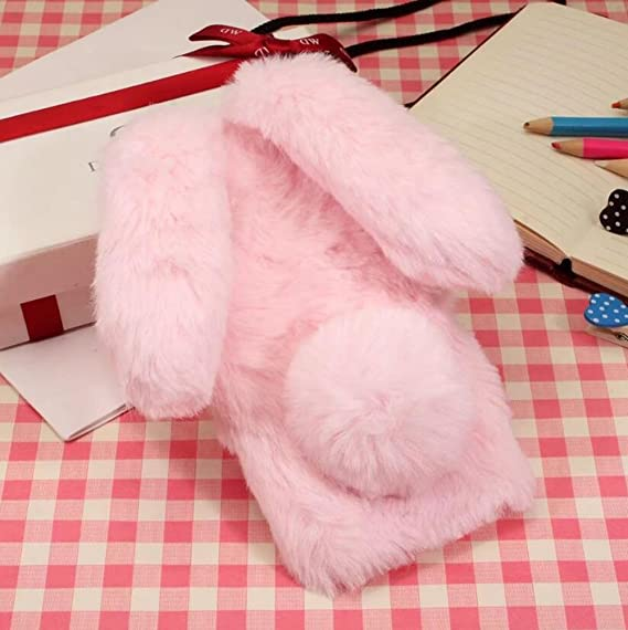 new concept b4a1a ee754 iPhone X Fur Rabbit Case,iPhone 10 Case,Jesiya Luxury Cute Toy Warm  Handmade Bunny Furry Soft Rabbit Fur Hair Plush Ultra Thin Soft TPU Case  for ...