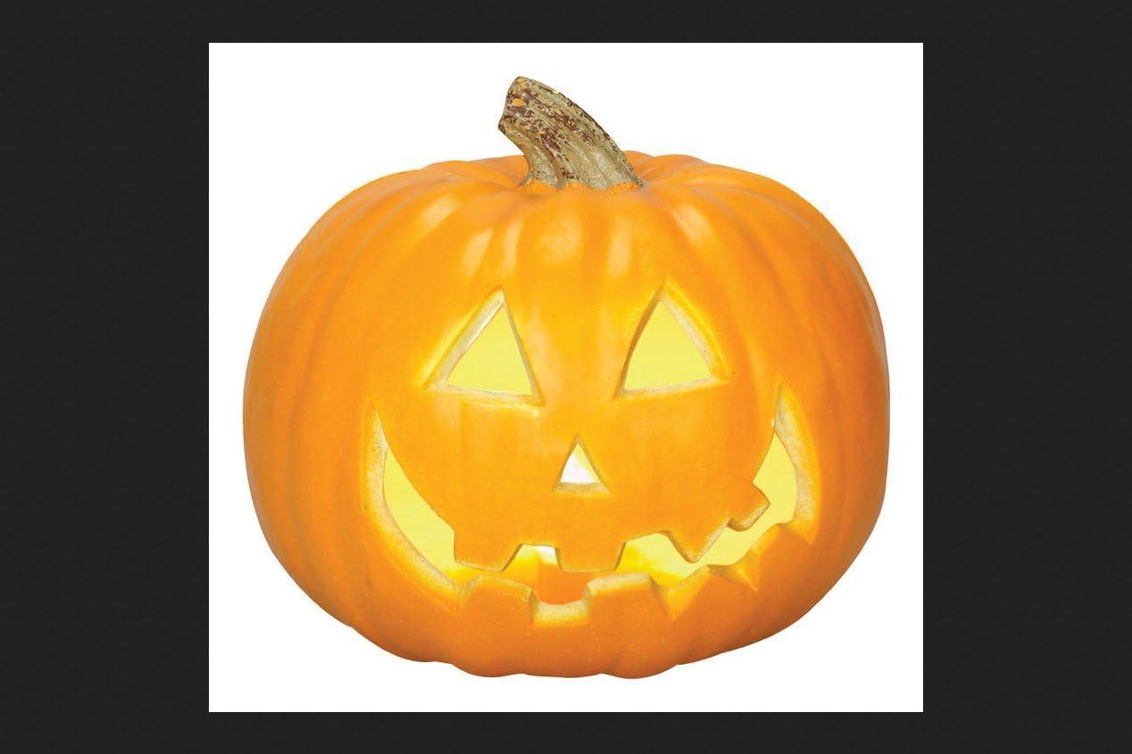 Gemmy 26266 Jack O Lantern Halloween Decoration 8 27 W X 8 86 L Home Kitchen