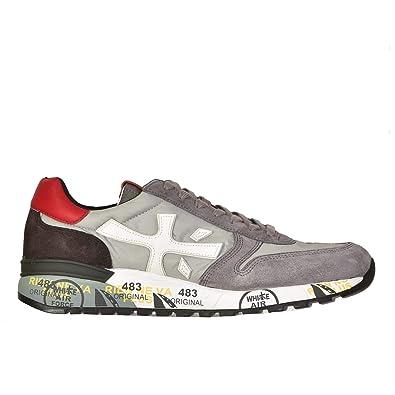 PREMIATA Herren MICK3256 Grau Leder Sneakers  Amazon.de  Schuhe ... 5aa9e61d49