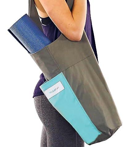 d4f0660171ac7 Yoga Mat Bag Holder + Yoga Mat Strap for Carring Yoga Mat + Plus 2 Extra  Pocks for Yoga Mat Cleaner