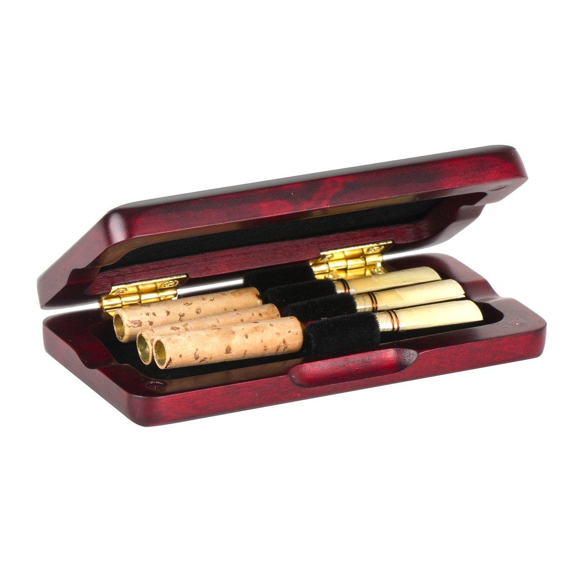 3e8b962c6ccc Kmise hautbois anches Coque Érable Boîte de rangement pour 3 pcs anches  musical pièces accessoires ambre