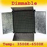 ePhoto 1000 LED Video Light Panel 0-100 percent Dimmable and Color Changing 1000 LED from 3500K- 6000K Temp LED1000A COLOR
