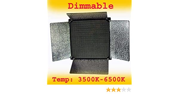 Amazon.com : ePhoto 1000 LED Video Light Panel 0-100 percent Dimmable and Color Changing 1000 LED from 3500K- 6000K Temp LED1000A COLOR : Photographic ...