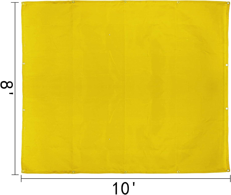 Mophorn 8 x 10 Ft Welding Blanket Gold Fiberglass Blanket Portable Fiberglass Fire Retardant Blanket Welding Mat Welding Fireproof Thermal Resistant Insulation With Carry Bag