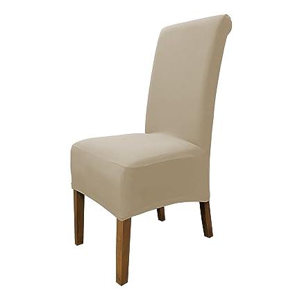 SCHEFFLER-Home Emma 2 Fundas de sillas, Estirable Cubiertas de la sillas, extraíble elástica Funda, con Banda elástica, Altura del Asiento 20-24 cm - ...
