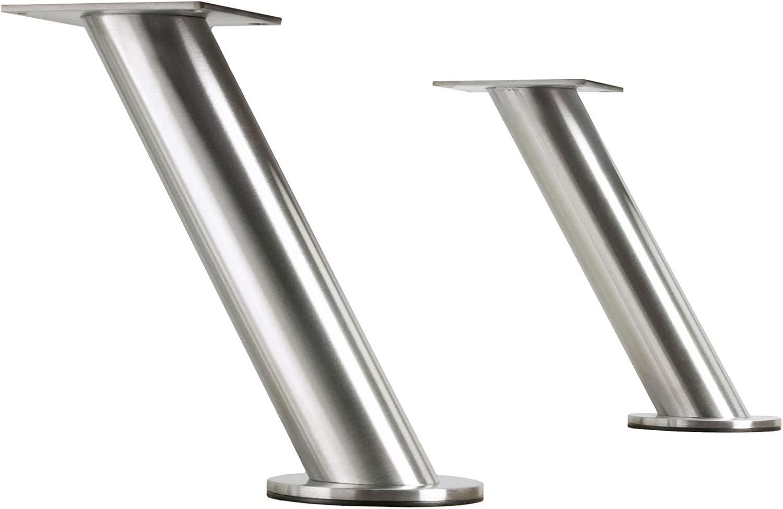 Metallic Ikea IKE-400.511.96 Barkonsole 2er Set schr/äg Konsole Edelstahl St/ütze Baraufbau Tresen Aufsatz St/ützen Capita Set of 2 Slanted Console Stainless Steel Bar Supports