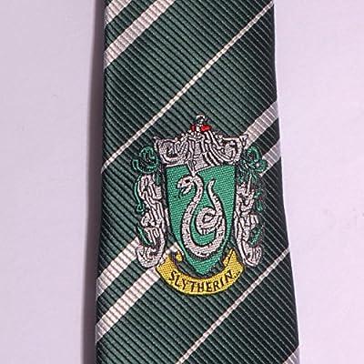 Harry Potter corbata con emblema Slytherin verde en seda accesorio ...