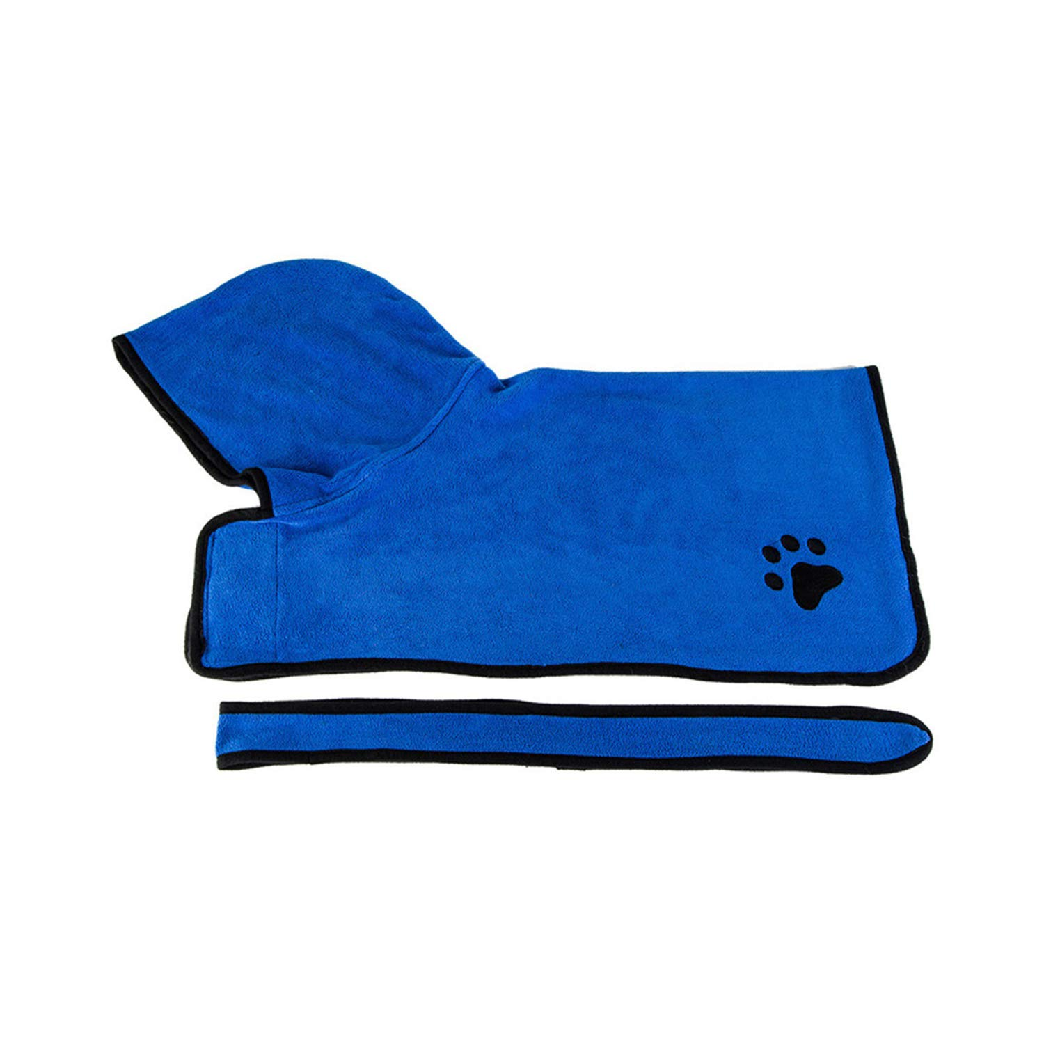 bluee M bluee M PEHTEN bluee Brown Towels Absorbent Dog Towel Bathrobe Cat Bath Bathroom Hair Grooming Drying Towels for Large Dogs Puppy Pet Product bluee M