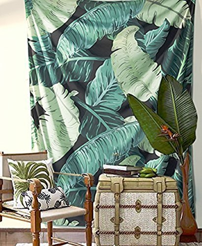 Green Banana Leaves Tapestry Bohemian Home Decor Bedspread Hanging Wall Tapestries Hippie Beach (Green Tapestry)