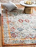 Unique Loom Rosso Collection Vintage Traditional Distressed Beige Area Rug (4' x 6')