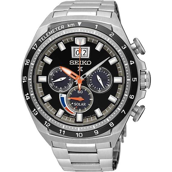 Seiko SSC603P1 - Reloj Cronógrafo para Hombre, de Energía Solar con Correa en Acero Inoxidable: Amazon.es: Relojes
