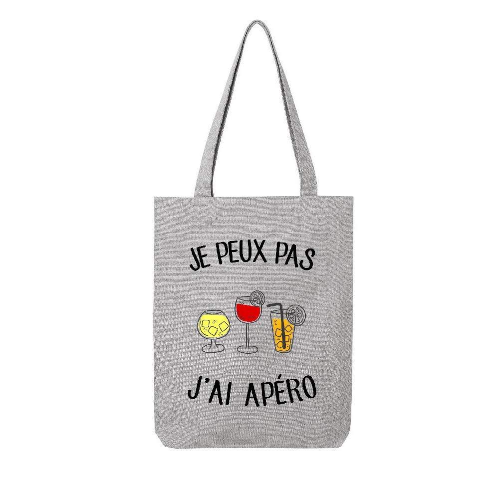 tote_bag LMK Coton JE-PEUX-PAS-J-AI-APERO generic