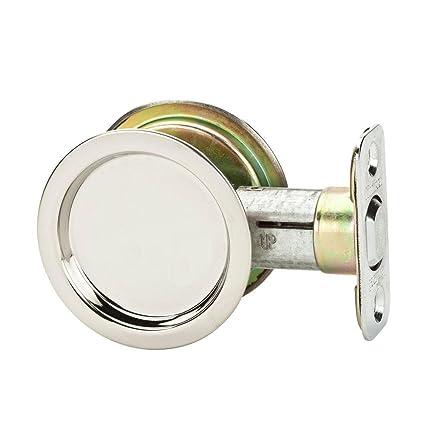 Delicieux Kwikset 334 32 RND PCKT DR LCK Pocket Door Lock, Passage Function, Steel  Finish