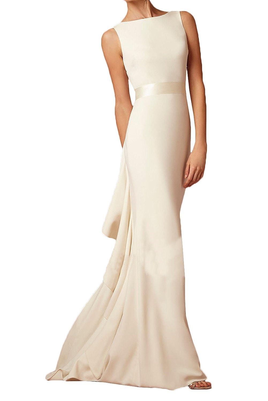 Milano Bride Damen Elegant Abendkleider Mermaid Hochzeitskleider ...