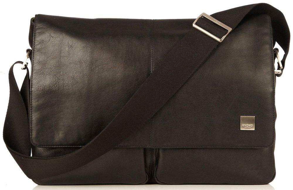 Knomo Luggage Men's Kobe Laptop Messenger Bag, Black, One Size