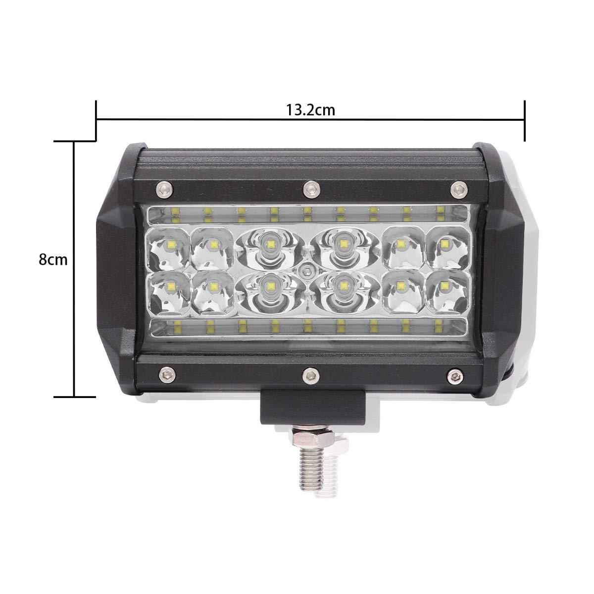 IP68 Waterproof Rate LED Light Bar 2Pcs 5 84W with 28pcs Superior LED Chips,LED Pods Fog Light for Trucks with Spot and Flood Light Maximum Illumination Range DKiigame