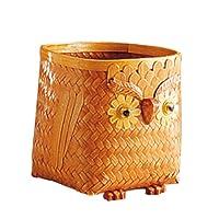AUBRY GASPARD Cache-Pots hiboux en Bambou