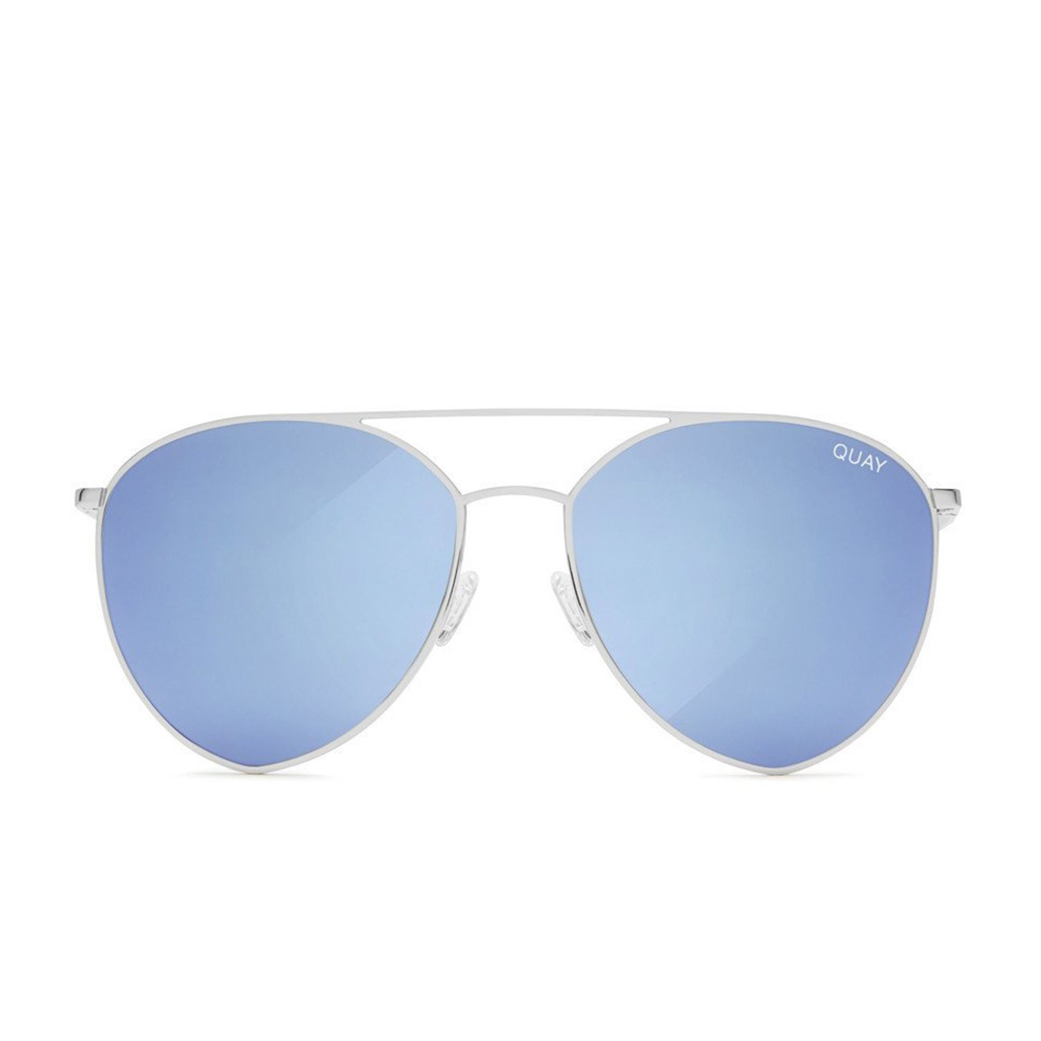5618a565d5 Amazon.com  Quay Australia INDIO Women s Sunglasses Jasmine Aviator  Teardrop - Silver Blue   Quay  Clothing