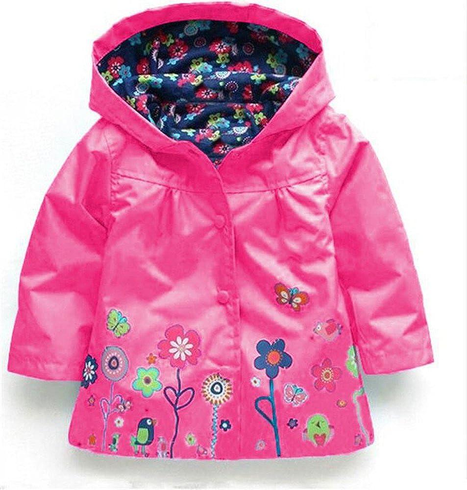 CADong Girls Raincoat Suit Waterproof Hooded Coat Outwear Jacket /& Trousers Suit