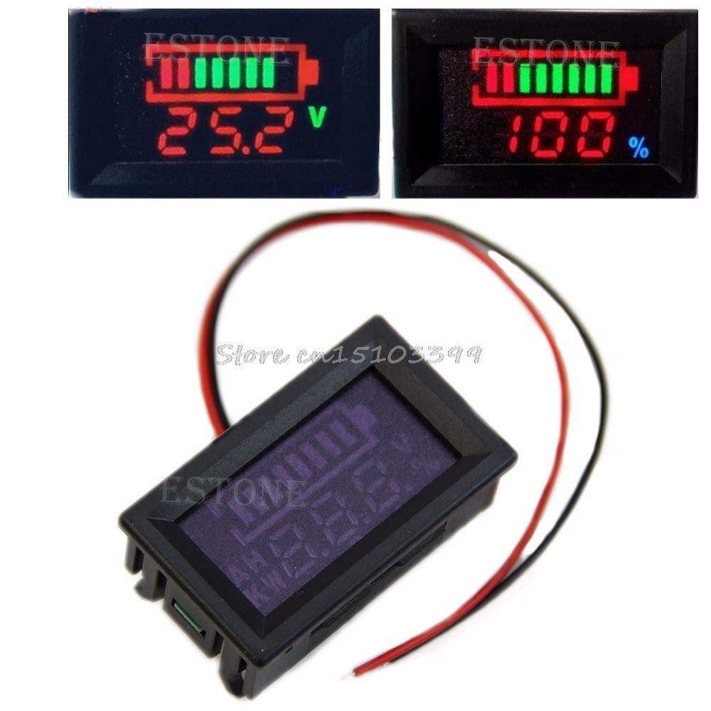 New 12V Acid Lead Batteries Indicator Capacity Digital LED Tester Voltmeter